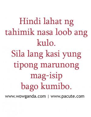 Tagalog Quotes – Mga Patama Love Quotes Tahimik