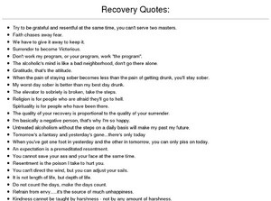 Inspiration for Recovering Alcoholics