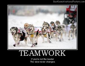 teamwork-dogs-sports-leadership-teamwork-best-demotivational-posters