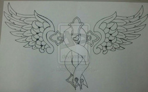 Commission: Colon Cancer Memorial Tattoo by IvyNightwind