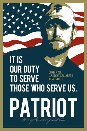 Chris Kyle Patriot Poster