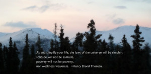 ... and not call up thoreau quotes to try and better illustrate the magic
