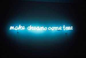 dreams, lights, neon, sign, words