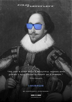 wearing the Mirrored sunglasses comes from his famous quote ...