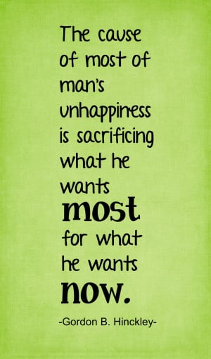 Here is my thought for today: I love this thought. It sure puts things ...