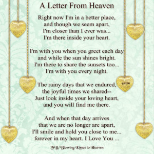 ... Quotes Sayings, Grief Quotes, Letters From Heaven, Beautiful Quotes