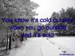 Too Cold Outside Funny Picture