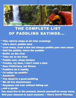kayaking quotes | ... list of top paddler quotes. | Kayaking ...