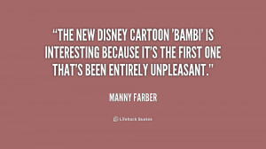 The new Disney cartoon 'Bambi' is interesting because it's the first ...