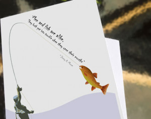 June Birthday - Greeting card - Men and Fish Are Alike - a card for ...