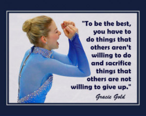 Gracie Gold USA Olym pics Figure Skating Photo Quote Poster Wall Art