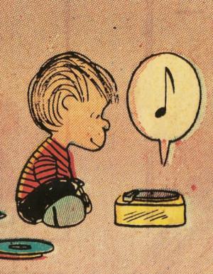 vintage peanuts comics vinyl Charles Schultz linus