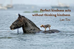 perfect kindness acts without thinking kindness lao tzu