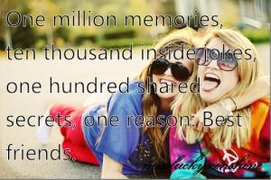 best friends, blue, girl, girls, hundred, inside, joke, memories ...
