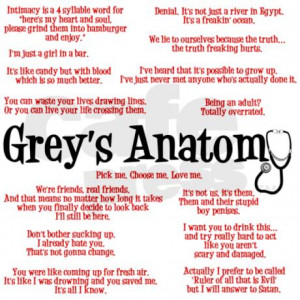 anatomy gifts grey s anatomy quotes greeting card