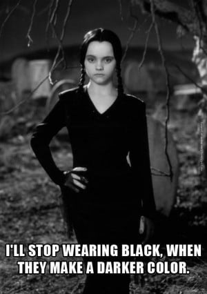 Wednesday Addams loves to wear black