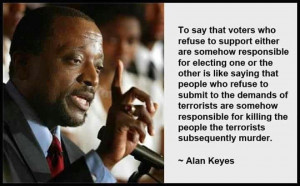 Alan Keyes on Rejecting Romney and Obama