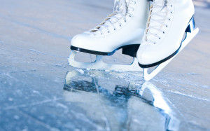 ice rink ice skating bokeh wallpaper background