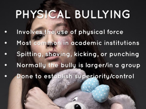 Verbal Bullying Facts Physical bullying