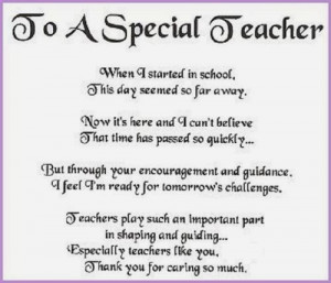 part in shaping and guiding. Especially teachers like you. Thank you ...