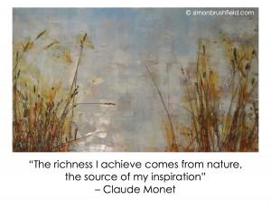Australian Landscape painting by Simon Brushfield_Monet Nature Quote
