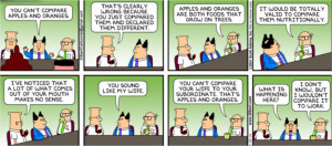 Dilbert - apples & organges