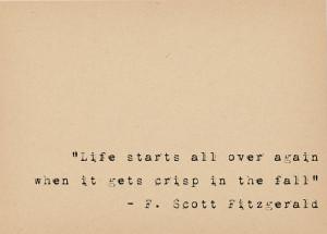 Scott Fitzgerald Quote - Book Lover Art - Literary Art Quote Print ...