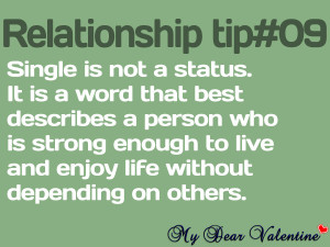 funny life quotes single is not a status
