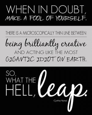 Leap quote by Jeri Stunkard