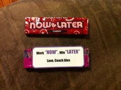 Motivational gift, cheer candy, inspirational, cheerleading, team gift ...