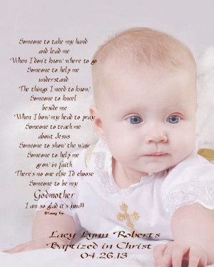 Godmother/Godfather/Godparents Gift Personalized 8x10/11x14 Poetry ...