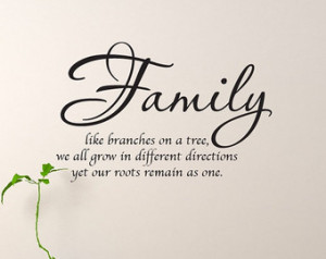 Family Wall Decal Family Like Branches On A Tree Wall Quote 20