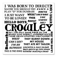 Crowley Quotes Square Car Magnet 3