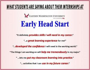 EWU Early Head Start Offers Valuable Student Internships!