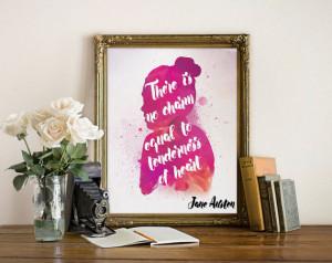Jane Austen quote art wall art wall decor print inspirational quote ...