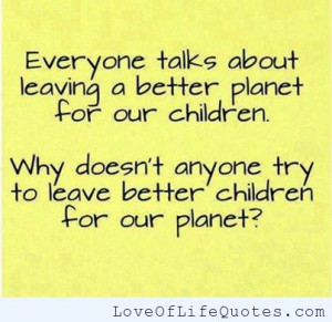 Better children or a better planet