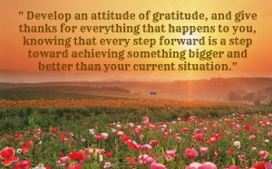 Gratitude quotes flowers field sayings HD Wallpaper