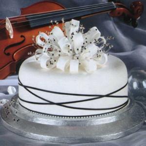 Simple Single Tier Wedding Cakes