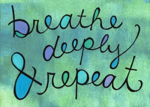 Breathe Deeply and Repeat (doodle magnet)