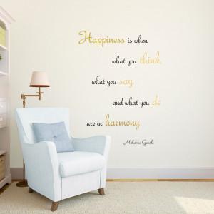 Home Harmony Gandhi Quote