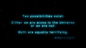 Arthur C. Clarke quote wallpaper