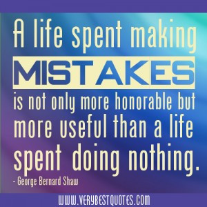 Motivational Quote of The day about making mistakes