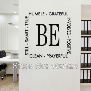 Living Room PVC Art Wall Decor Lettering Saying Decals Nursery Wall ...