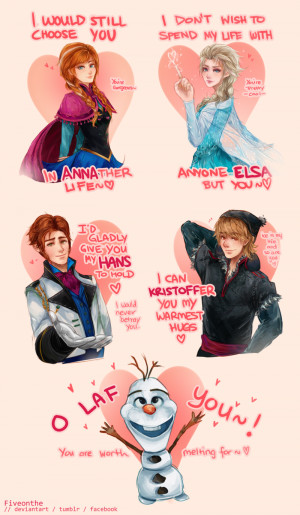 FROZEN Valentine's Day Cards! by Fiveonthe