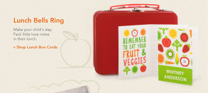 Lunch Bells Ring -- Make your child's day. Pack little love notes in ...