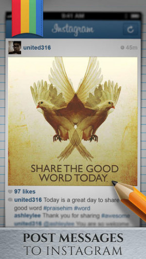 Christian Message - Share bible quotes on Instagram