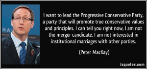 Conservative Party, a party that will promote true conservative ...