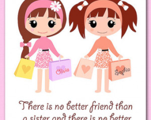 Sister Quote Sisters Art Sorority Wall Decor Print Little