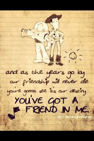 side... the wing man;) True Friendship, Toy Story Quotes, Best Friends ...