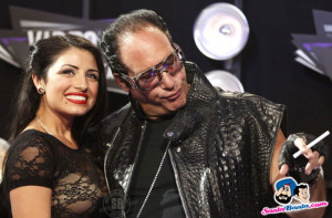 Andrew Dice Clay and his guest pose on arrival at the 2011 MTV Video ...